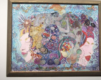 Fat Tuesday Collage with Bronze Toned Frame