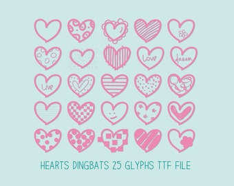 Hearts Dingbats