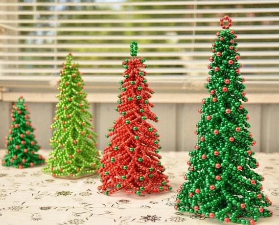 Christmas tree tutorial decor beaded