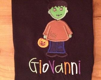 Boy Frankenstein Shirt or Baby Bodysuit