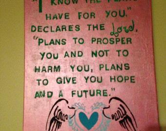 Jeremiah 29:11 Canvas