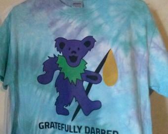 Custom Hand Dyed Tie Dye , Gratefully Dabbed Shirt Orders