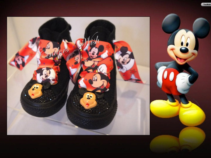 e870e618a11c Mickey or Minnie Mouse spike studded converse toddler infant