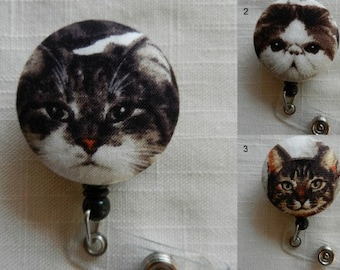 Adorable Cats ~  Retractable ID, Name badge Holder Reels