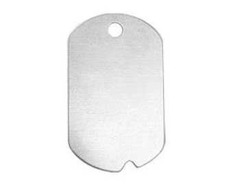 "DOG TAG Blanks, Military ID Style Blanks, Rectangle Blanks, Metal Blanks Hand Stamping Supplies, Aluminum 1 1/4"" 20 Ga Qty 6 to 12, Deburred"