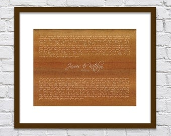 Gone, Gone, Gone by Phillip Phillip's/ Wedding Song Lyrics Gift/ Gift from Groom to Bride/Gift from Bride to Groom/ First Dance - 8x10 +