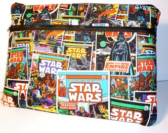 """Star Wars Comic Book Laptop Macbook Pro or Air Case Sleeve with Zipper 13"""" 15"""""""