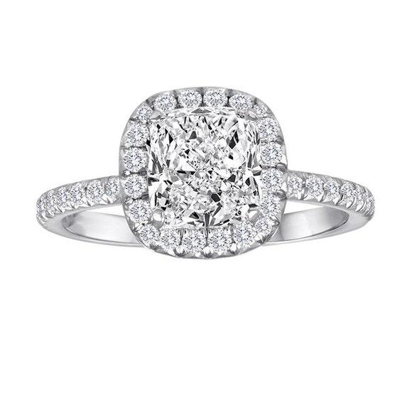 2 84 Carat Cushion Cut Diamond Engagement Ring Vintage