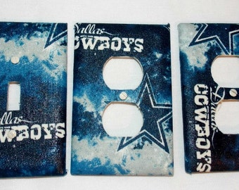 Texas Football Dallas Cowboys Bedroom Light Switch Cover Outlet Cover Set