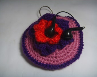 Headphone case, coin purse, key holder,pacifier holder.