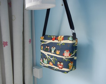 Items similar to Rose & Butterfly Sling bag, Fabric Sling bag ...