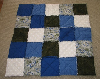 Reversible Children's Military Rag Quilt
