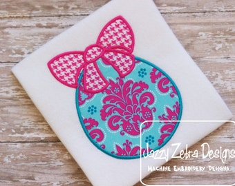 Easter Egg with Bow Applique