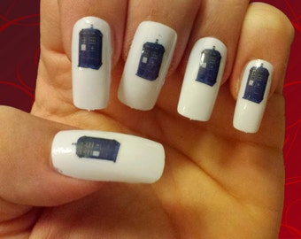 50 Tardis Nail Decals Dr Who