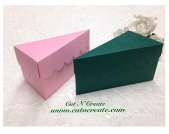 Cake Slice Boxes Cake Box Cake Slice Favors Cake Boxes Cake Slice Wedding Favours Emerald Green And Pink