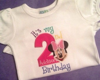 Miss. Mouse 2nd birthday shirt