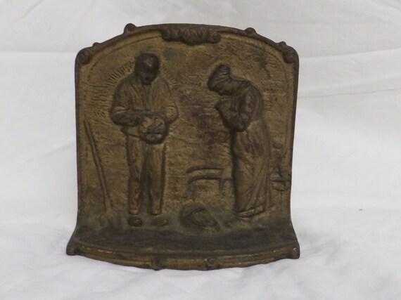 Vintage Cast Iron Door Stop The Angelus