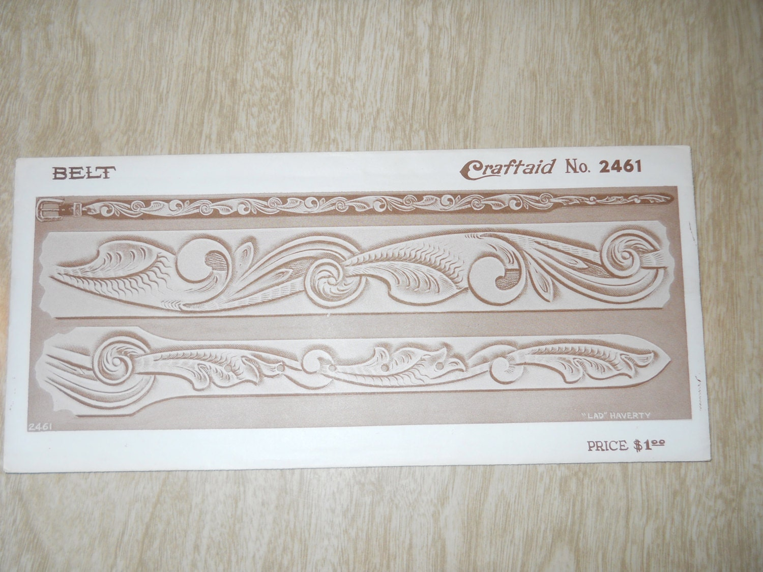 leather tooling pattern for belt craftaid 2461 classic