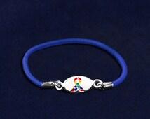 Autism Ribbon Stretch Bracelets (B-55-2)