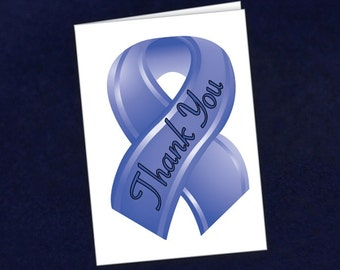 Small Periwinkle Ribbon Thank You Cards (STY-21)