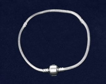 7 in Silver Bracelet Snake Chain Style (RETAIL) (RE-JPART-B-47A)