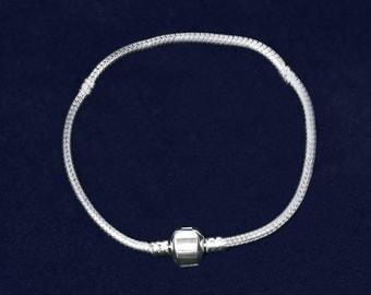 7 in Silver Chunky Charm Bracelets (RETAIL) (RE-JPART-B-47A)