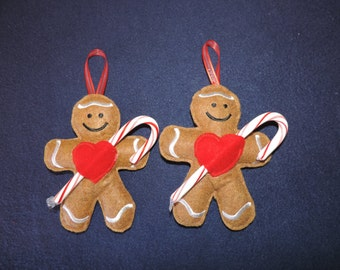 Gingerbread Man Candy Cane Holders