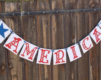 4TH of July Banner / Independence Day Banner /Fourth of July Decor/ America /Summer / Patriotic / Military / Bbq / Decoration / Banners / Su