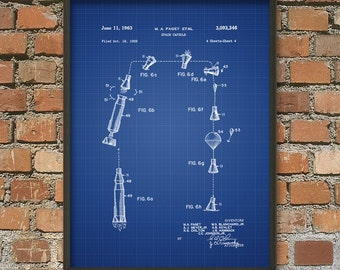 Mercury Space Capsule Patent Print #2 Mercury Space Capsule Patent Print #2 - NASA Spacecraft Patent - Space Travel - Space Exploration