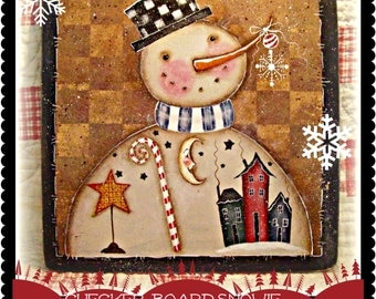 Checkerboard Snowie - Painted by Martha Smalley, Painting With Friends E Pattern