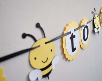 Mommy To Bee Banner Baby Shower Neutral Decoration Yellow And