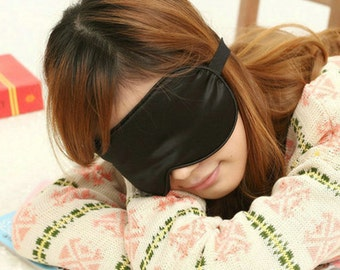 1pc silk eyewear sleep eye mask travel mask big size color Black and others