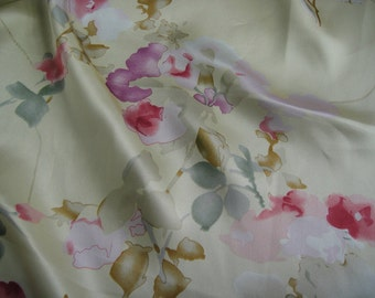 Feelsilk 100% mulberry silk printed fabric pure silk charmuse silk fabric 45inch wide 16.5m/m sold by yard
