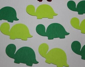 100pc Darling Turtle Die Cuts/Confetti