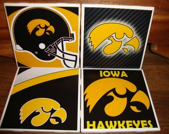 Iowa Hawkeyes Coasters (set of 4)