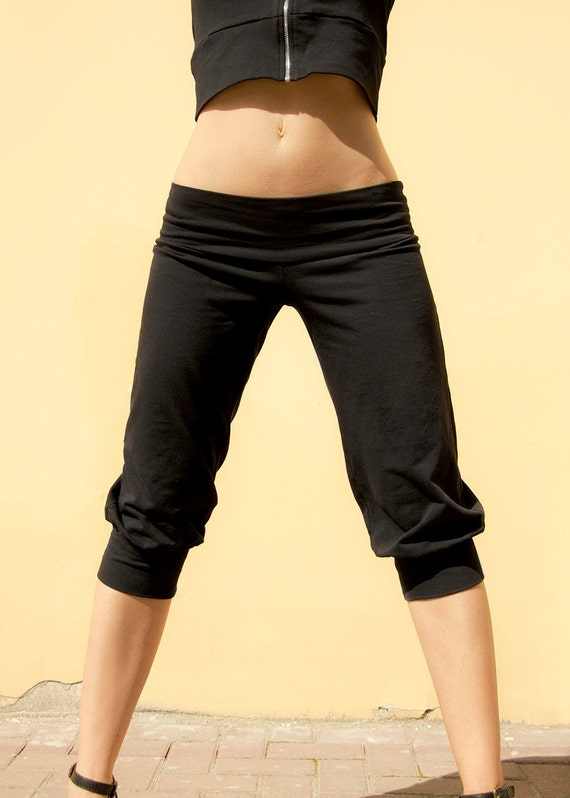 Yoga pants Black pants Loose pants Sport pants Crop pants