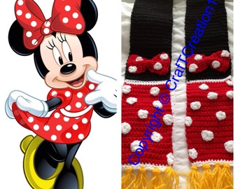 Minnie Mouse inspired Scarf