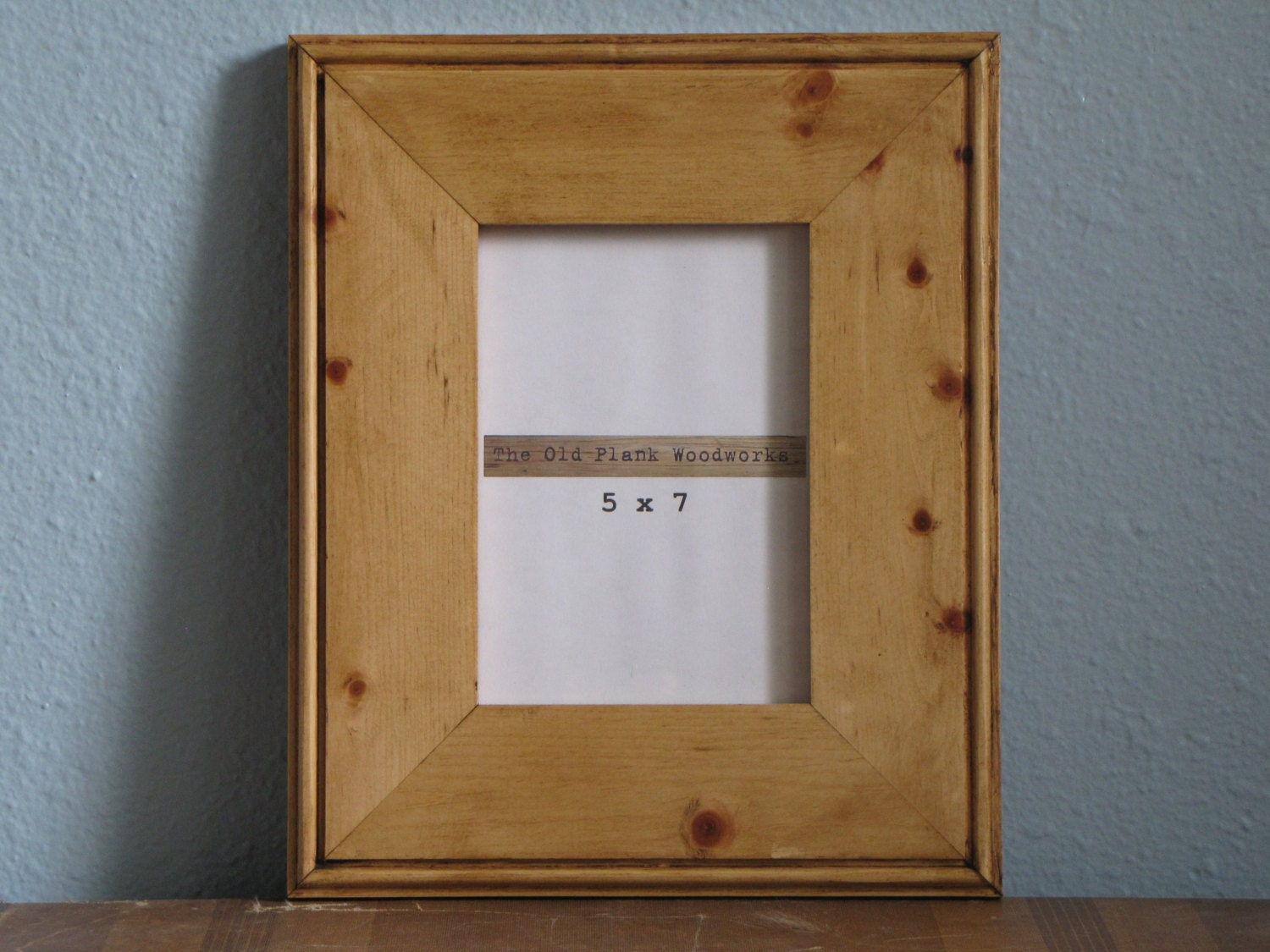 handmade pine picture frame 5 x 7 made from knotty pine. Black Bedroom Furniture Sets. Home Design Ideas