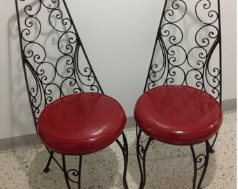 Popular Items For Wrought Iron Chairs On Etsy