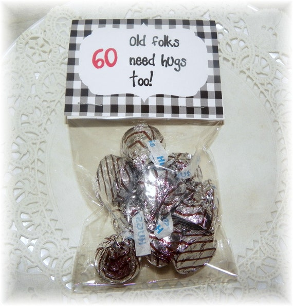 60th birthday printable bag topperpartyfavor diy for Do it yourself centerpieces for birthday