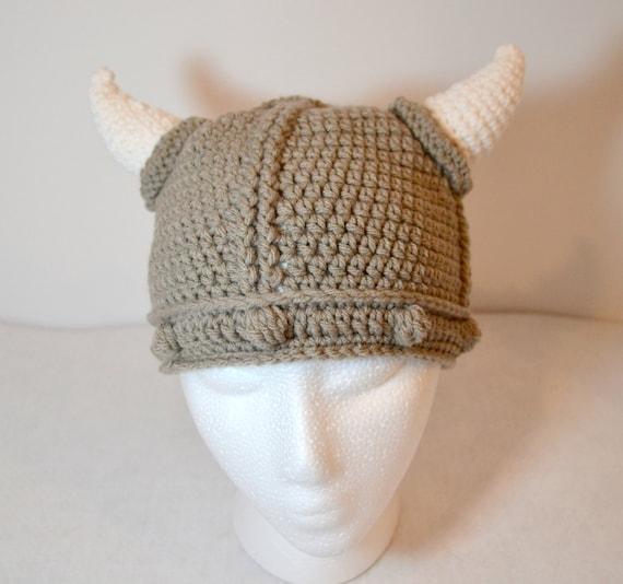 Crochet Viking Hat : Child Viking Hat, crochet viking beanie, Halloween costume, Made to ...