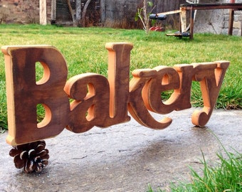 Bakery, Fresh Baked Bread, Hand Painted Vintage Bakery Sign, Bakery Sign