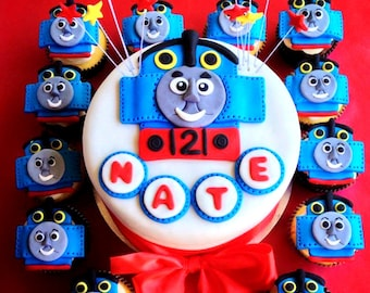 Thomas Train Fondant Cake Toppers