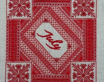 Ruby PDF Chart by Northern Expressions Needlework