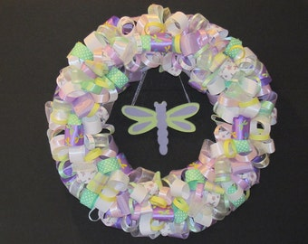 Dragonfly Ribbon Wreath