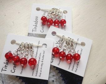 Glass bead stitch markers