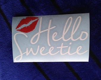 Hello Sweetie River Song decal