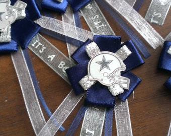 Dallas Cowboys Baby Shower Corsages