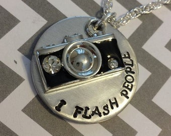 I Flash People Photographers Necklace Key chain or camera dangler