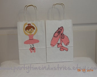 10 Ballet Favor/Goodie/Candy bags